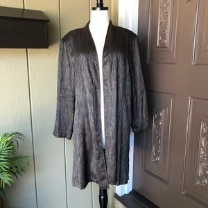 Eileen Fisher Lightweight Crinkle Silk Jacket